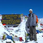 Thorang la at Annapurna Circuit Trekking