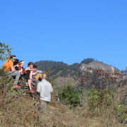 Community Trek and bonding between trek participants