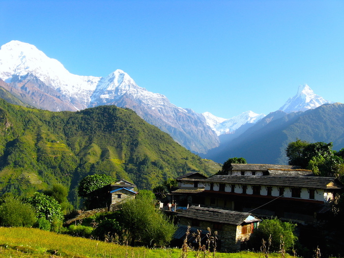 Ghandruk village at Annapurna base camp trekking