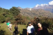 Hiking back to the community from Maire
