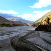 Kaligandaki river at Annapurna Circuit Trekking
