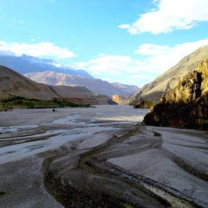 Kaligandaki river at Annapurna Circuit Trekking