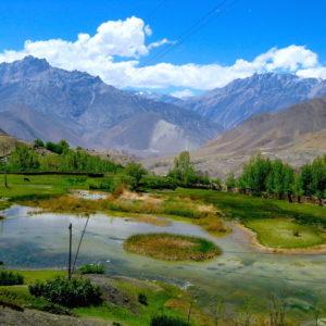 near Jharkot at Annapurna Circuit Trekking