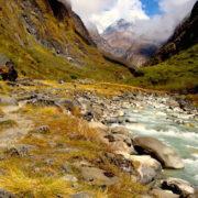 Near Machchhapuchre trekking at Annapurna Base camp trekking