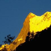 Sunset at Machchhapuchre, Annapurna Base camp trekking