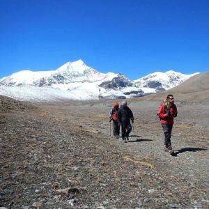 French pass through Dhaulagiri Circuit Trekking
