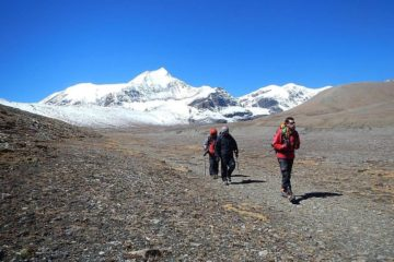 French pass through Dhaulagiri Circuit Trekking