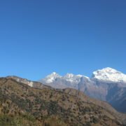 Mount Dhaulagiri from Maire