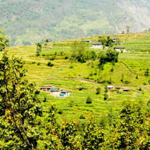Village on the way to Rayokhor, Responsible Trek to Nepal
