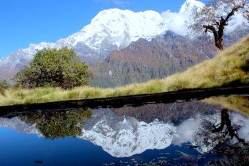 Mirror view at Mardi Himal Trek