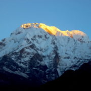 Annapurna I on the way to Mardi trek