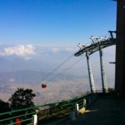 Cable car ride in Kathmandu