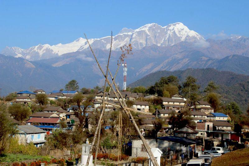 A clear day on Ghalegaun Community
