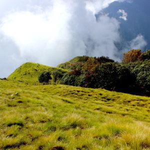 Mardi Himal trek on the way to high camp