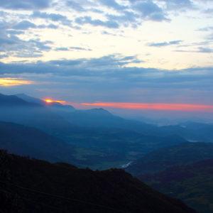 sunrise view from Mardi trekking