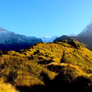 Low camp view from Mardi Trek
