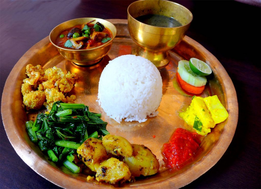 Food to try in Nepal-Dal bhat