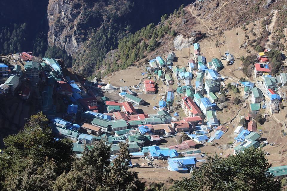 Namche Bazaar at Everest BC