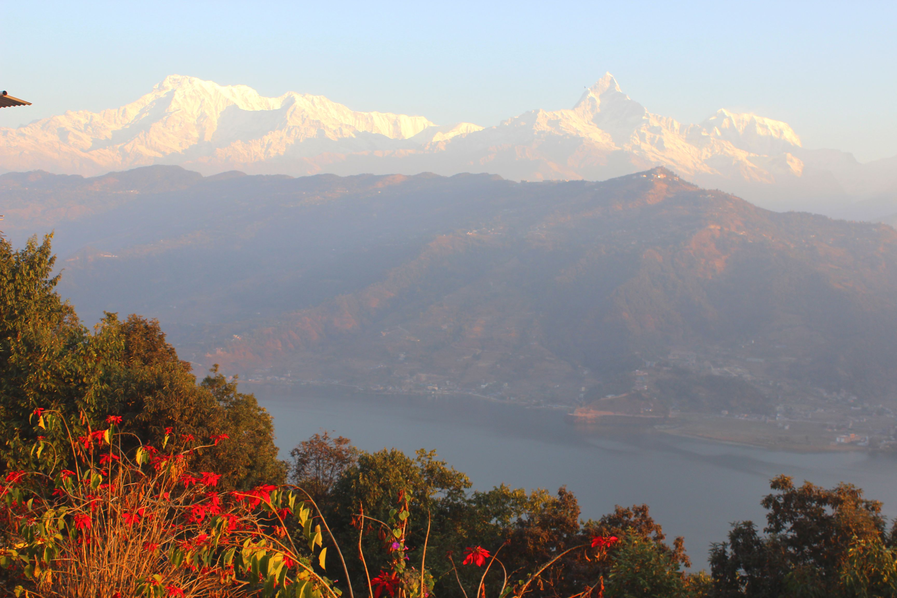 Few Lake with Annapurna and Fishtail at the top