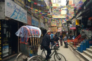 Rishaw Ride at Thamel