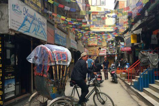 Rishaw Ride at Thamel