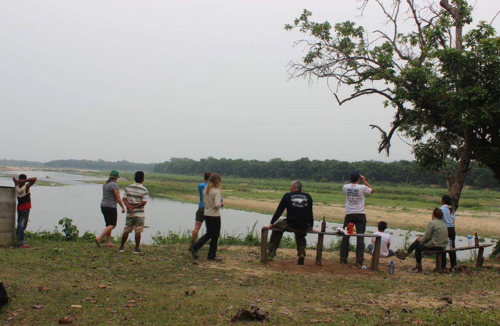 River side at the buffer zone