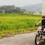 ride a bike like local in Nepal