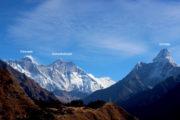 Everest, Amadablam and Lhotse in Nepal