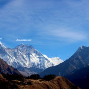 Everest, Amadablam and Lhotse in Nepal