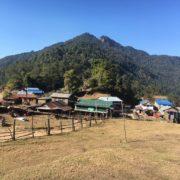 Village on the way to Panchase Village Trekking