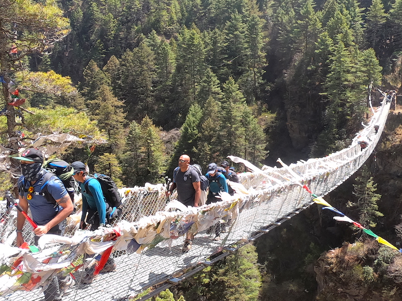 Suspension Bridge at Everest Basecamp Trekking