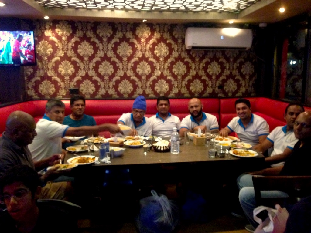 Srilankan Team having Dinner
