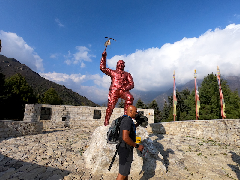 Tenzing Norgay Statue at Namche