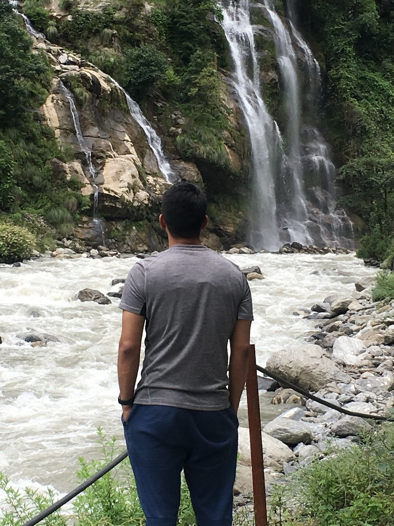 Waterfall in Nepal